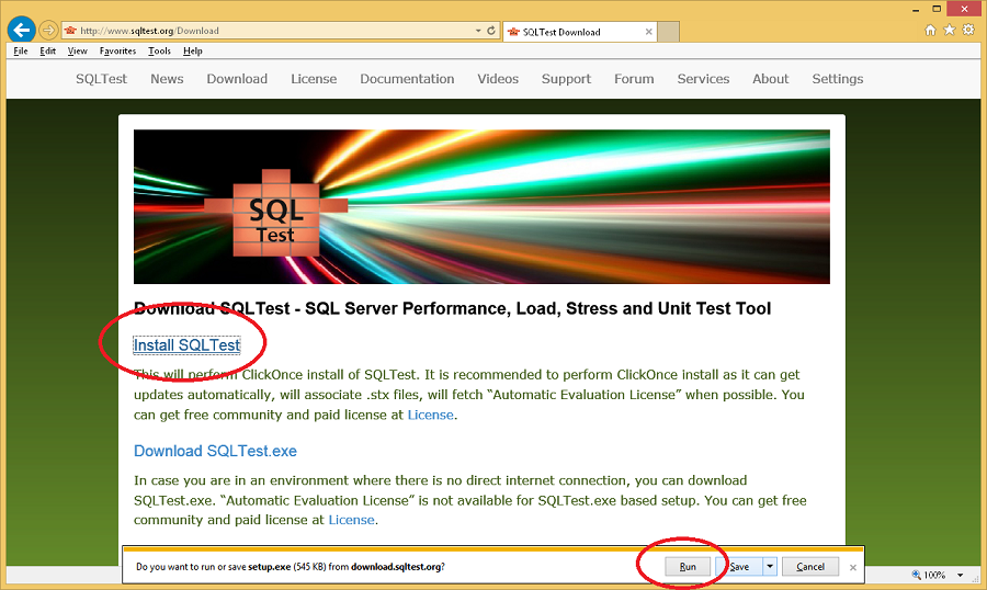 How to Install SQLTest
